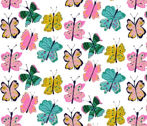 Spring butterflies fabric by alison_janssen on Spoonflower - custom fabric