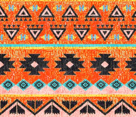 Vibrant kilim fabric by lucybaribeau on Spoonflower - custom fabric