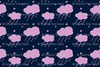 raining naughts and crosses_orchid&navy