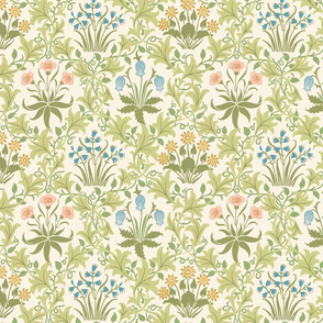 The William Morris Collection ~ Celandine ~ Original on Queen Anne's Lace