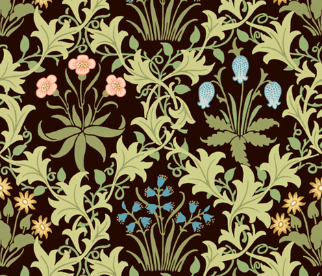 The William Morris Collection ~ Celandine ~ Original on Senart fabric by peacoquettedesigns on Spoonflower - custom fabric