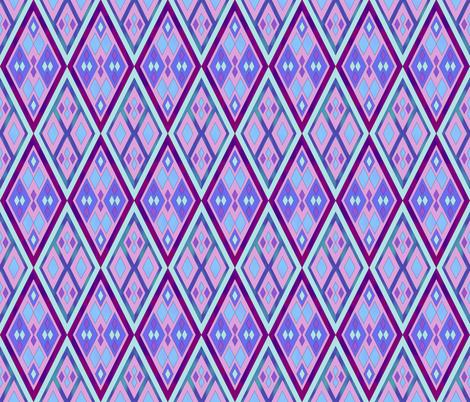 Kilim Purple Twilight fabric by chappy_and_neko on Spoonflower - custom fabric