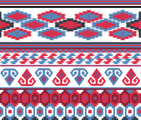 the Rams Horn and the Star Kilim fabric by ruthnijsten on Spoonflower - custom fabric