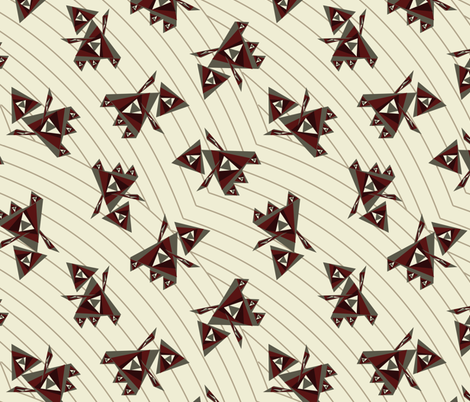 Origami-Robots fabric by cricketswool on Spoonflower - custom fabric