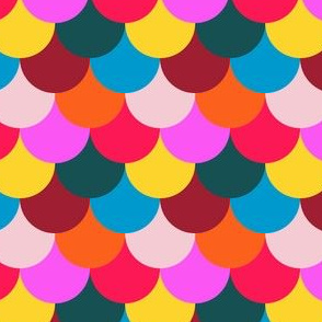 Scalloped Confetti in Mod Multi