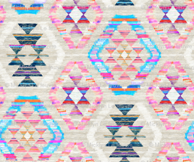 Woven Textured Pastel Kilim - cool cream