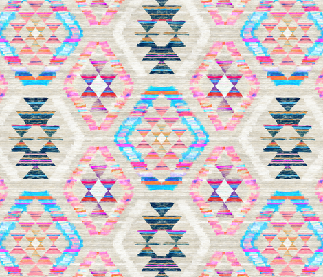 Woven Textured Pastel Kilim - cool cream fabric by micklyn on Spoonflower - custom fabric