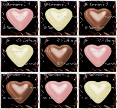 1 milk strawberry white brown pink Chocolates Hearts valentine love desserts candy sweets food kawaii cute candies boxes
