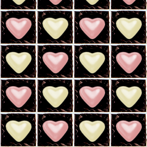 2 milk strawberry white pink Chocolates Hearts valentine love desserts candy sweets food kawaii cute candies boxes mixed assorted egl elegant gothic lolita    fabric by raveneve on Spoonflower - custom fabric
