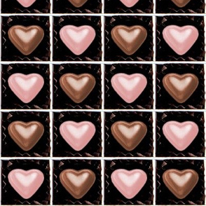 4 milk pink brown Chocolates Hearts valentine love desserts candy sweets food kawaii cute candies boxes mixed assorted