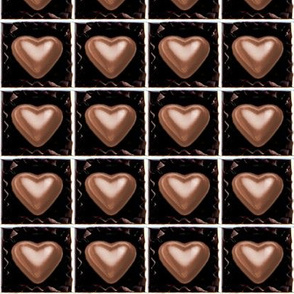 6 milk brown Chocolates Hearts valentine love desserts candy sweets food kawaii cute candies boxes mixed assorted egl elegant gothic lolita