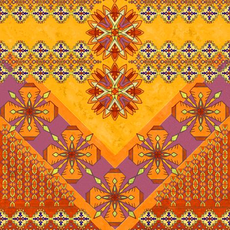 Golden Kilim, Horizontal Border fabric by palifino on Spoonflower - custom fabric