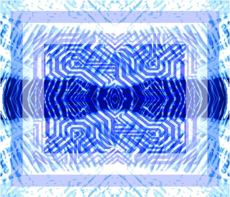 Blue Kilim fabric by svetlana_kononova on Spoonflower - custom fabric