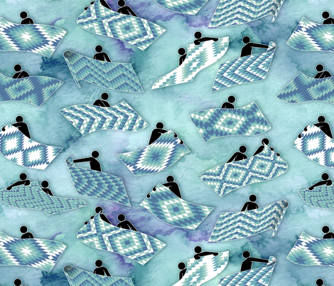 Flying kilims fabric by analinea on Spoonflower - custom fabric