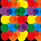 Rainbow Polka - White