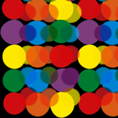 Rainbow Polka - Black