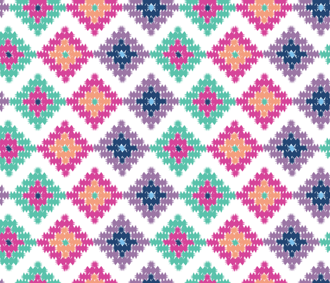 Killing It Kilim fabric by vintageblushdesign on Spoonflower - custom fabric