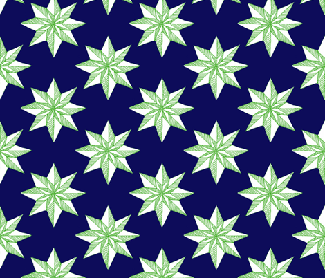 Paper Star on Blue fabric by katawampus on Spoonflower - custom fabric