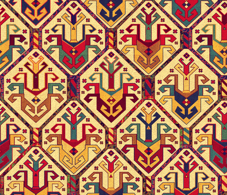 KILIM Fabric fabric by chicca_besso on Spoonflower - custom fabric