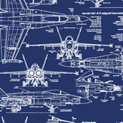 F-18 Blueprints // Large