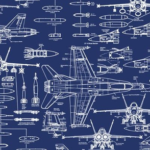 F-18 Blueprints // Small