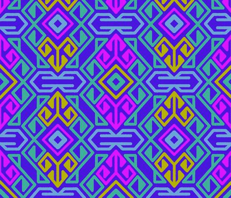 Electric Kilim fabric by boadala on Spoonflower - custom fabric