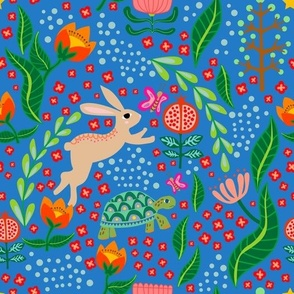 Hare and Tortoise blue