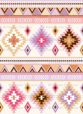 pink and sand kilim