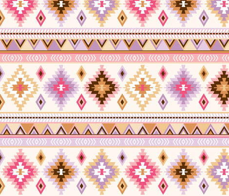 pink and sand kilim fabric by heleenvanbuul on Spoonflower - custom fabric