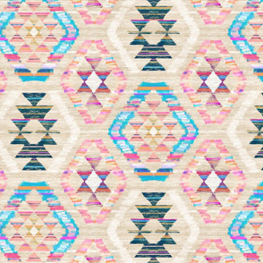 Woven Textured Pastel Kilim - warm cream