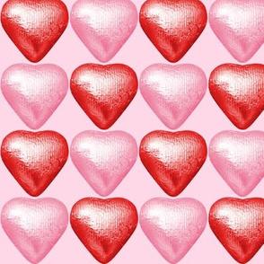2 Foil Wrapped Chocolates Hearts pink red valentine love desserts candy sweets food kawaii cute egl elegant gothic lolita  candies