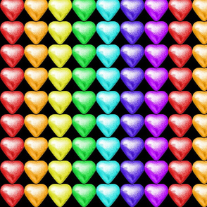 1 Foil Wrapped Chocolates Hearts  valentine love desserts candy sweets food colorful rainbow multi colors colored kawaii cute egl elegant gothic lolita candies