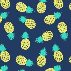 Pineapple on navy Medium