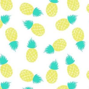 Pineapple on white Medium