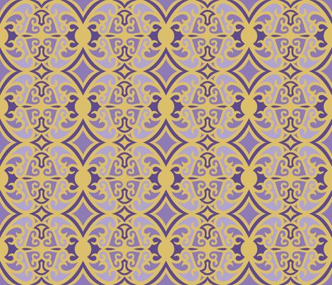 Shades of Ultaviolet and Gold fabric by artsytoocreations on Spoonflower - custom fabric