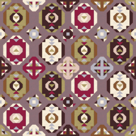 Purple Olive Kilim fabric by camcreative on Spoonflower - custom fabric