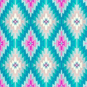 Marrakesh Kilim // pink ,  tiffany blue and aqua // summer // bohemian