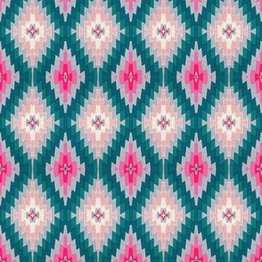 kilim bright pink and dark