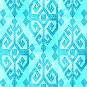 Kilim  of Motherhood and fertility // Aqua / Teal, Turquoise