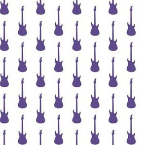 Ultra Violet Purple Electric Guitars on White
