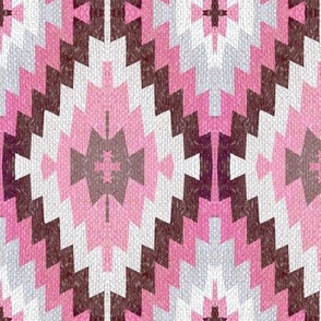 Earthen Kilim, pink clay , pink and brown