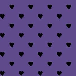 Black Hearts on Ultra Violet Purple