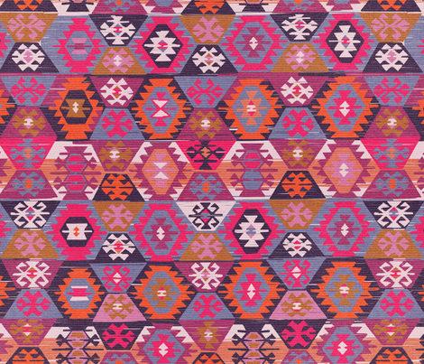 Sunrise Kilim fabric by artfully_minded on Spoonflower - custom fabric