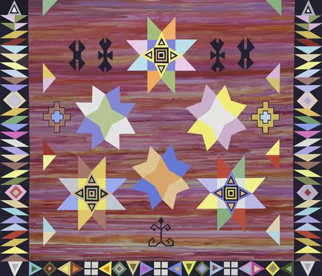 Kilim rug sat 011918 fabric by florodoro on Spoonflower - custom fabric