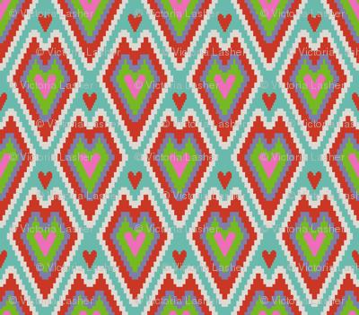 small kilim hearts color 4