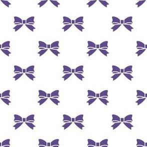 Ultra Violet Purple Bows on White