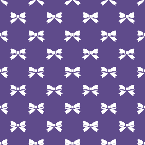 White Bows on Ultra Violet Purple fabric by mtothefifthpower on Spoonflower - custom fabric