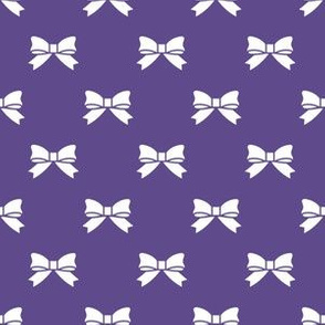 White Bows on Ultra Violet Purple