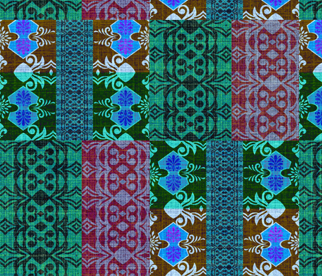 Turkish rug art2 fabric by lil_chick_ent_ on Spoonflower - custom fabric