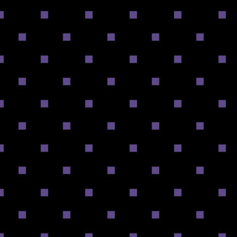 Ultra Violet Purple Square Polka Dots on Black fabric by mtothefifthpower on Spoonflower - custom fabric